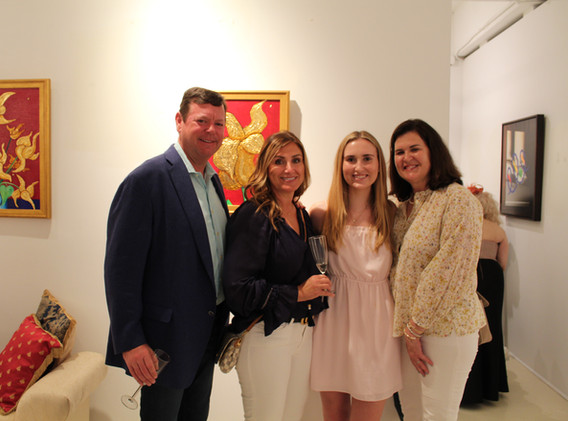 Kevin Breslin, Fulserv Group & Family & Claire Breslin 2nd Generation Amsterdam Whitney Gallery collector
