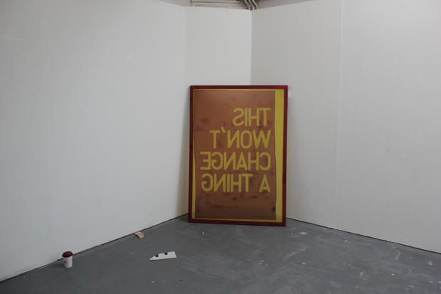 'this won't change a thing' Install Shot