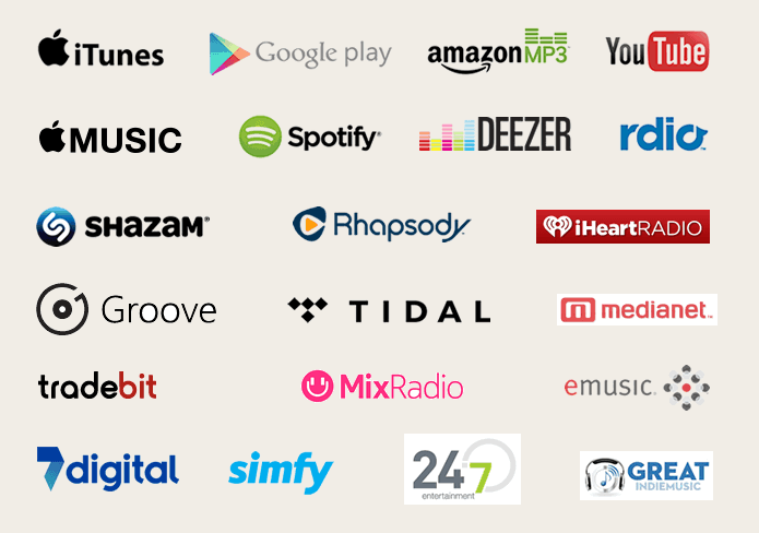 How can I put my music on Spotify and Apple Music?