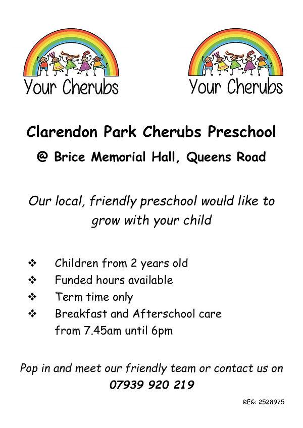 Clarendon Park Cherubs Preschool POSTER.