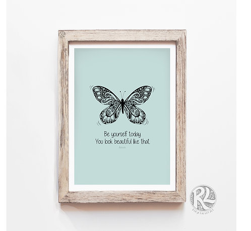 'Be Yourself Today' Digital Art Print
