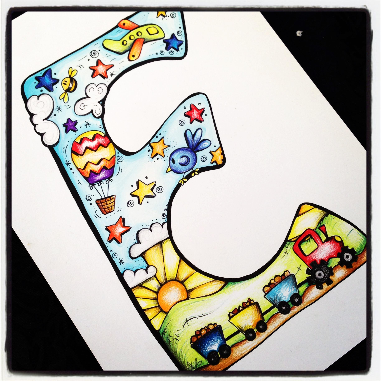Boys Alphabet Print E