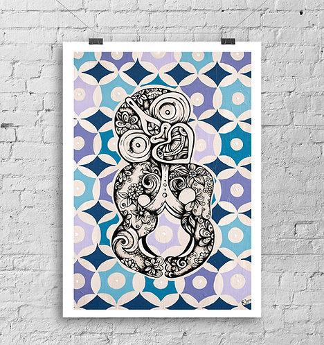 Retro Tiki Art Print