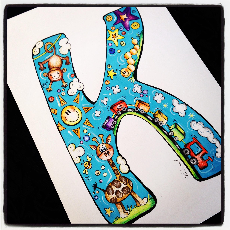 Boys Alphabet Print K