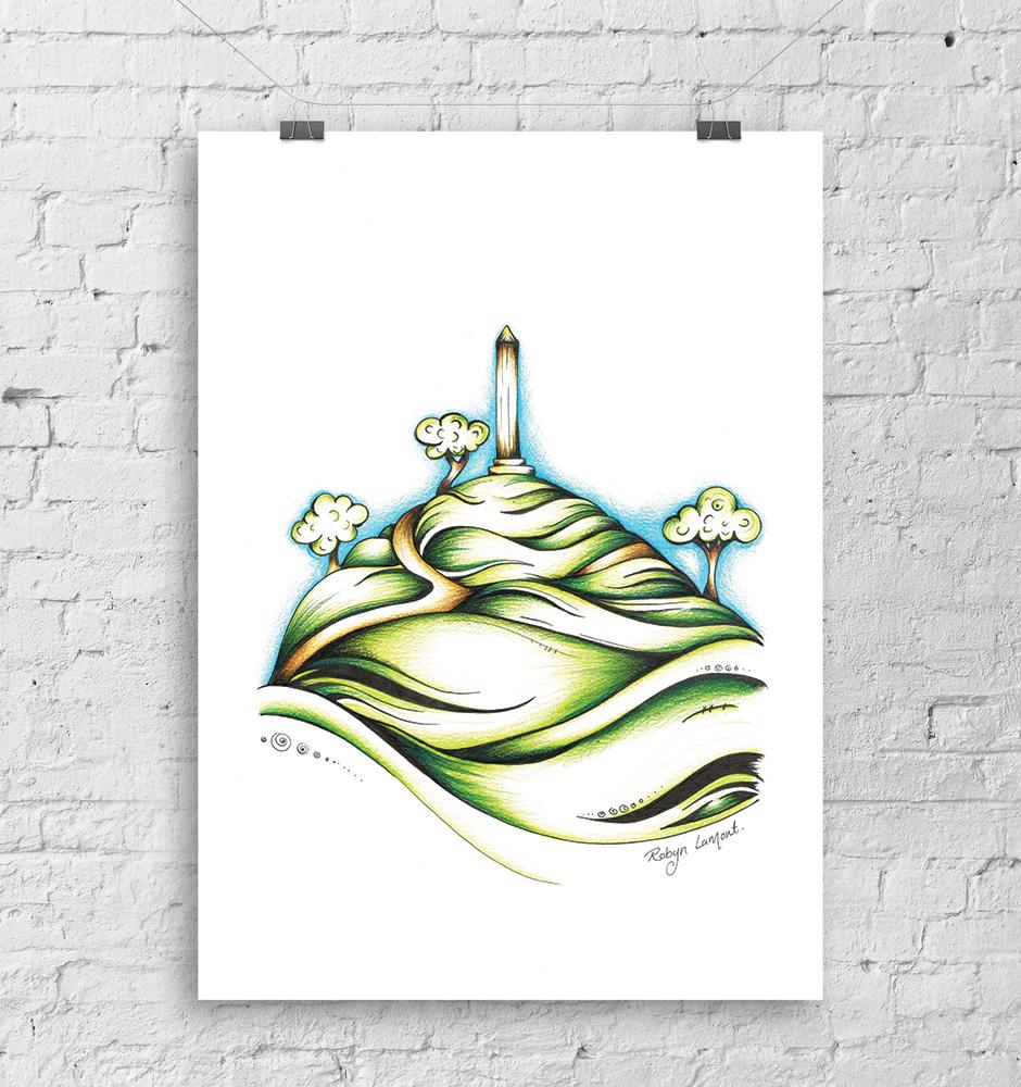 'One Tree Hill' Art Print