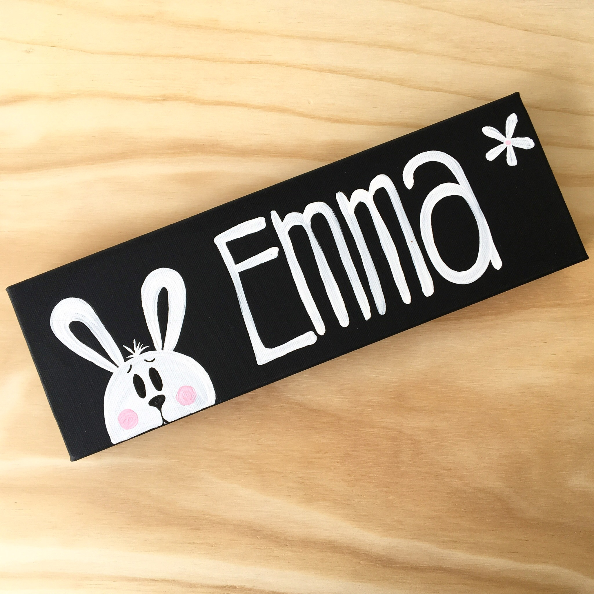 Bunny Themed Name Painting