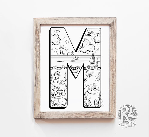 The Letter M - A4 Art Print