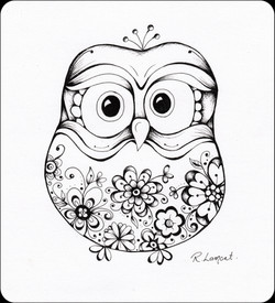 Morepork in Ink