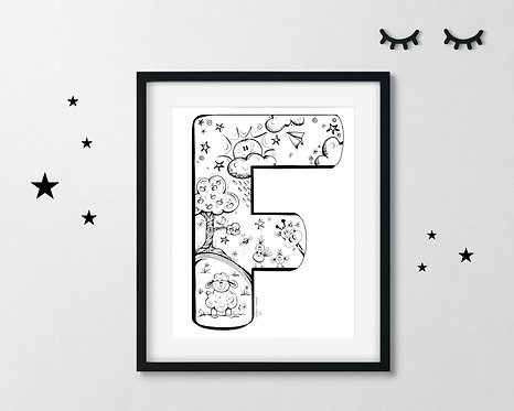 The Letter F - A4 Art Print