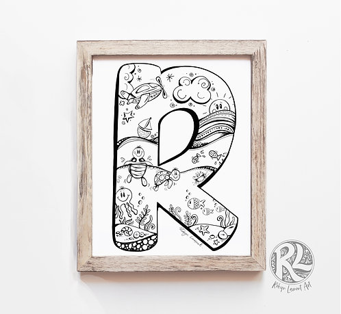 The Letter R - A4 Art Print