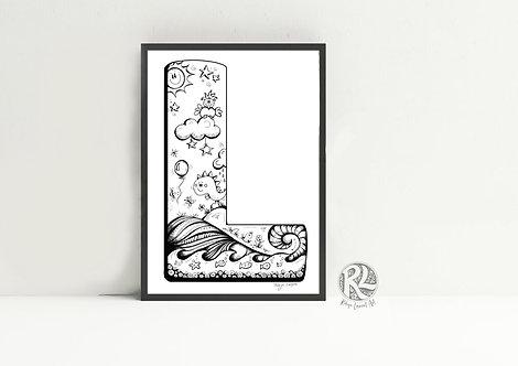 The Letter L - A4 Art Print