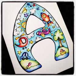 Boys Alphabet Print A