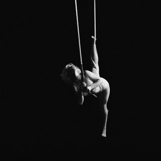 Emma in her trapeze