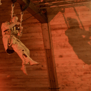 Emma on trapeze