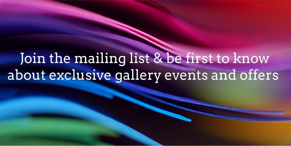 Elizabeth James Gallery - Mailing List