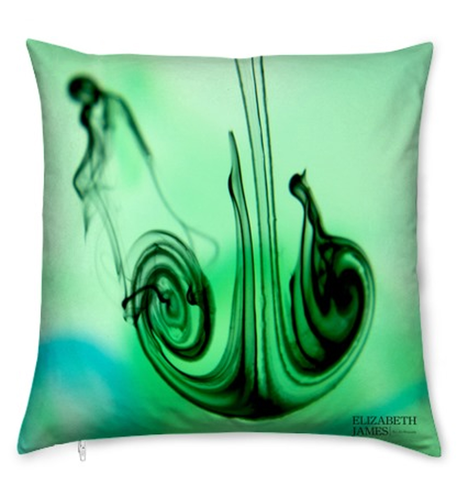 Green Zest Luxury Silk Cushion