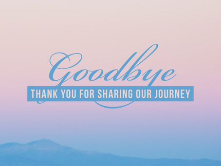 Thank you for sharing our journey!