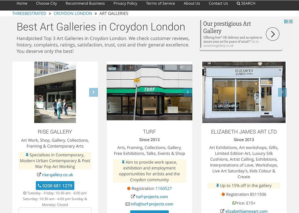 Top 3 art galleries in Croydon