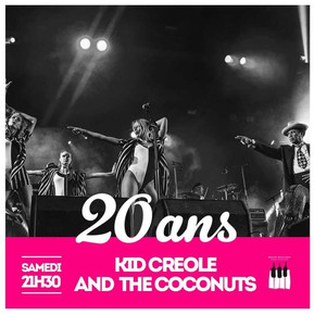 29th of June 2019: Saint Emilion Jazz festival - Kid Creole & the Coconuts