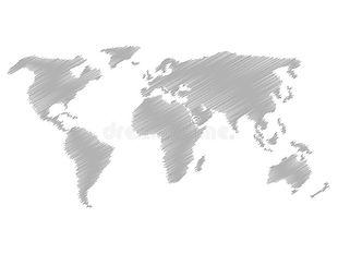 mapa-de-bosquejo-del-garabato-del-lápiz-
