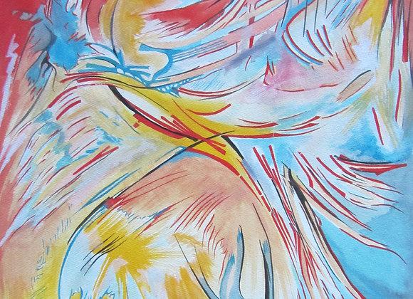 """""""Wind"""", 61x46, aquarelle sur papier, 2015"""