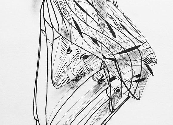 Sans titre, 21 x29, encre de chine sur papier, 2018.