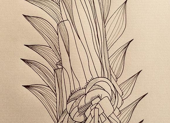 #17, 30 x 40 cm, feutre sur papier kraft, 2017