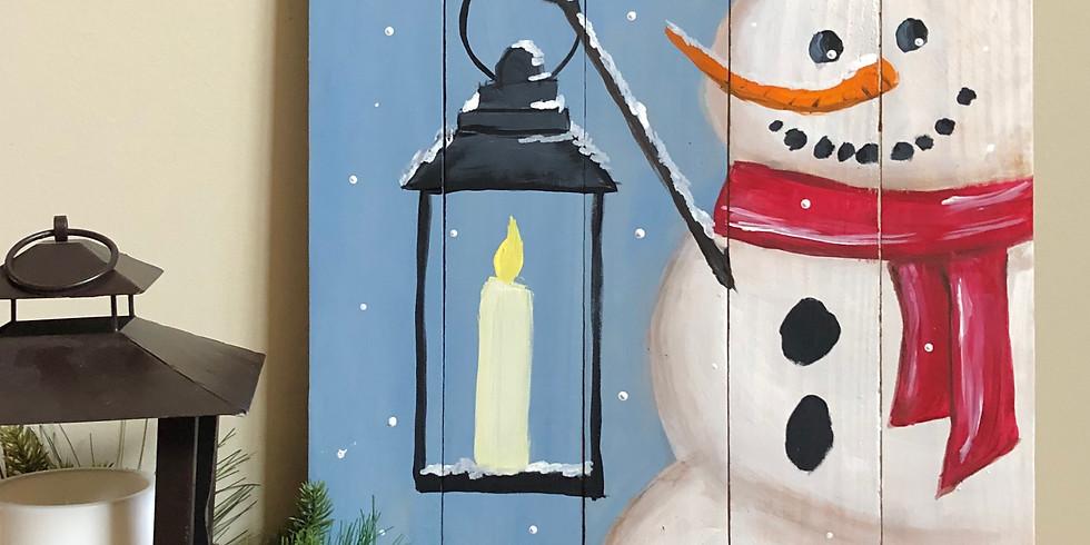 Snowman Pallet Paint Party