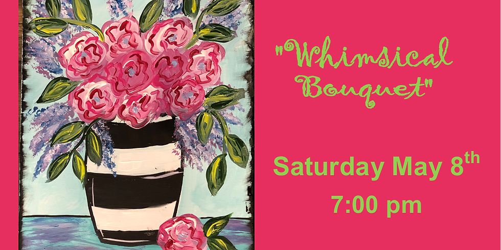 Whimsical Bouquet Paint Party