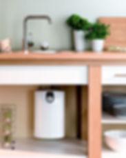 накопительный водонагреватель под мойкой
