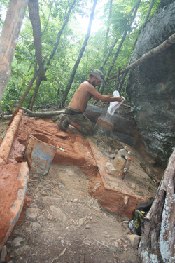 B. Mixing mountain mortar