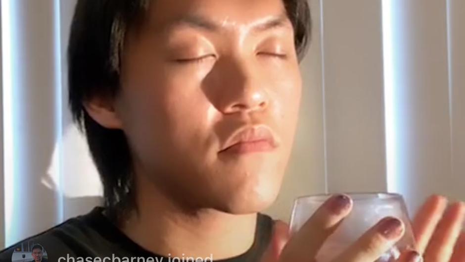 Drinking Water with Alejandro (Junyao) Zhangfrom Instagram LIVE, recorded Wednesday, May 6th