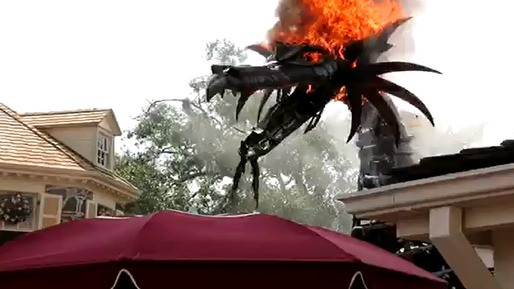 Walt Disney World Dragon catches on fire.