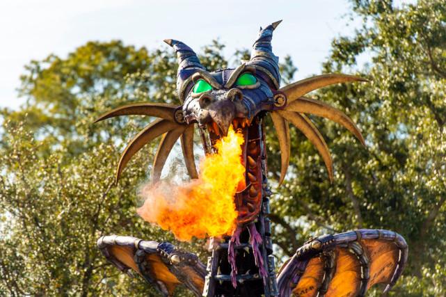 Maleficent returns to her parade in Walt Disney World.
