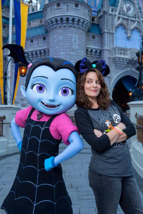 Tina Fey Visits Walt Disney World Resort and gets in the Halloween spirit!