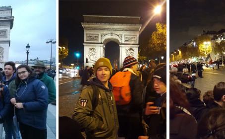 Sortie à l'Arc de Triomphe
