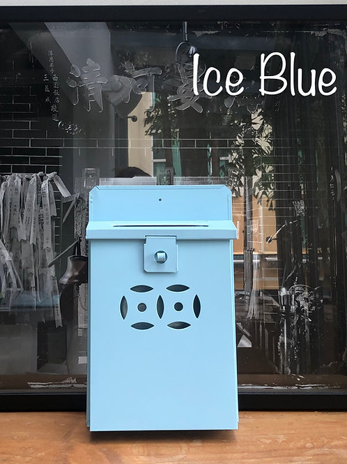 Ice Blue letterbox