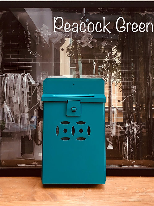 Peacock Green letterbox