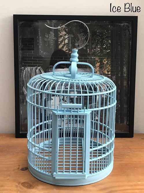 Ice blue birdcage
