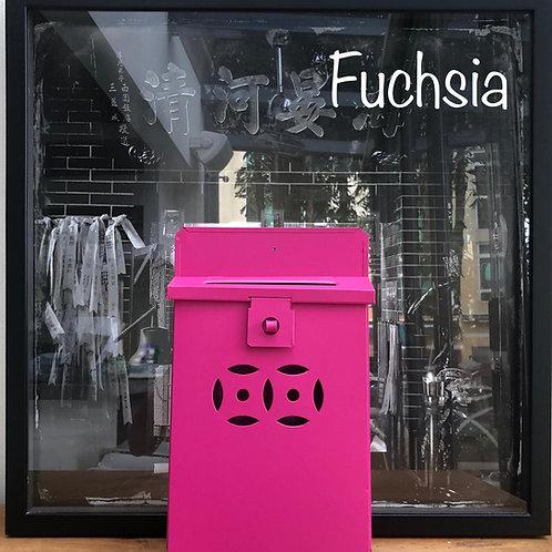 Fuchsia letterbox