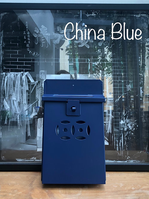 China Blue letterbox