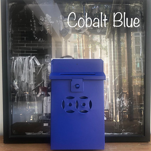 Cobalt Blue letterbox