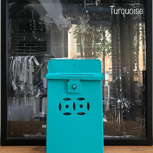 Turquoise letterbox