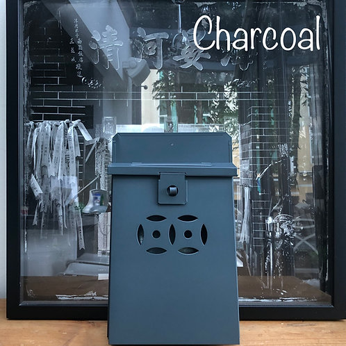 Charcoal grey letterbox