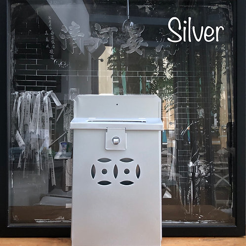 Silver letterbox