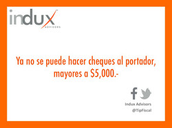 Indux cheques