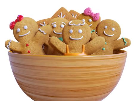 Gingerbreadman o biscotto di pan di zenzero (versione veloce)