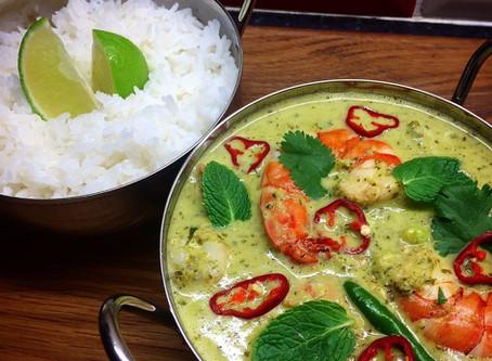 Curry verde di gamberi: come rifare a casa un piatto tailandese