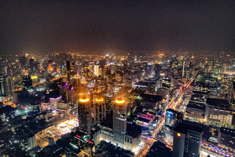 Bangkok - Vista sulla città dalla Torre Bayoe Sky
