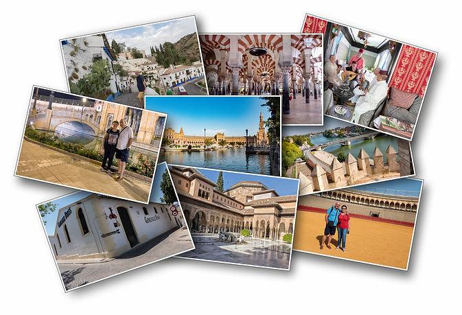 Collage di alcune città andaluse